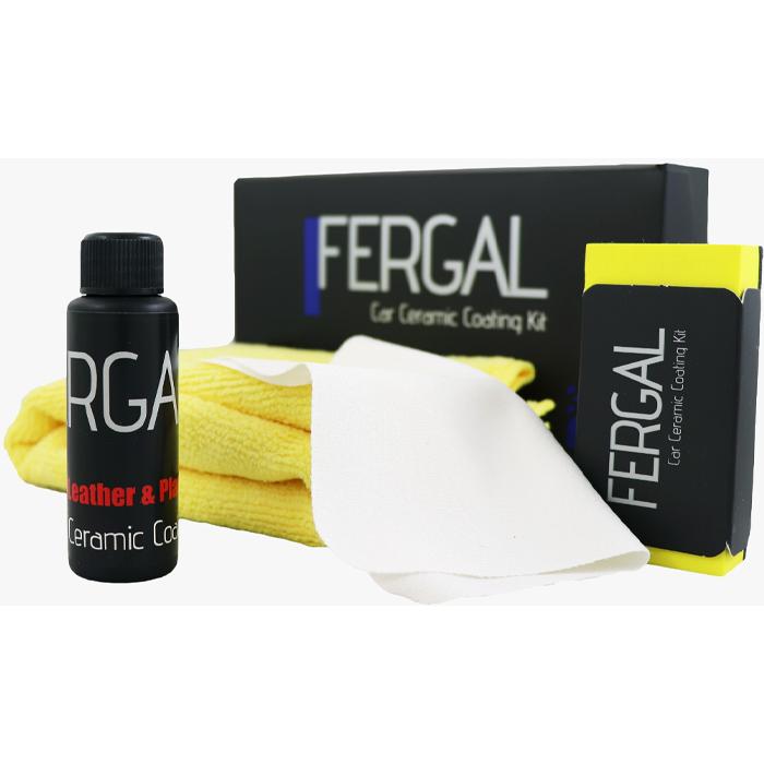 محافظ سرامیک چرم و پلاستیک فرگال Fergal مخصوص سطوح چرمی و پلاستیکی خودرو